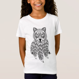 T-Shirt Loup inspiré avec Dreamcatcher