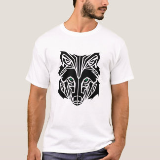 T-shirt Loup tribal