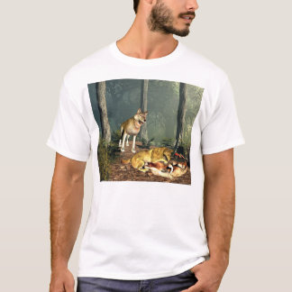 T-shirt Loups au jeu