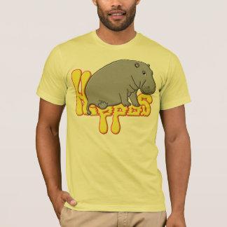 T-shirt Lourd de Hippopotame - jaune