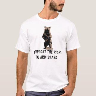 T-shirt L'ours arme l'ours gris