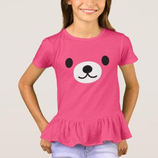 T-shirt L'ours de nounours rose de la fille hérisse le