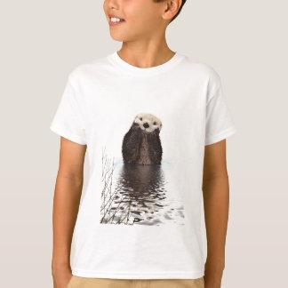 T-shirt Loutre de sourire adorable dans le lac