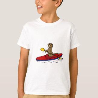 T-shirt Loutre drôle Kayaking