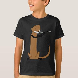 T-shirt Loutre jouant la cannelure