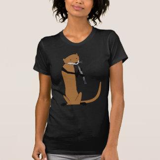 T-shirt Loutre jouant le hautbois