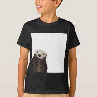 T-shirt Loutre mignonne avec la pièce d'ajouter votre