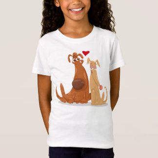 T-Shirt Love Dogs Shirt for Girl
