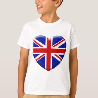 T-shirt love drapeau Angleterre