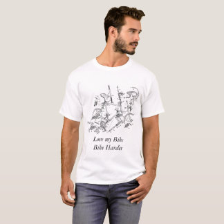 T-shirt Love my bike bike harder