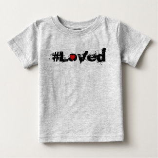 T-shirt #Loved d'enfant en bas âge