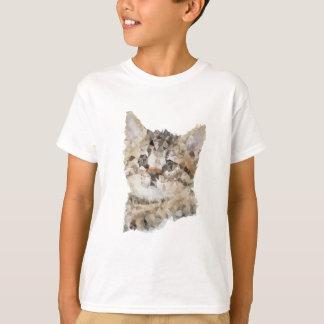 T-shirt Low poly chaton