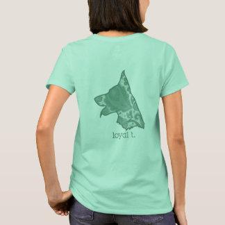T-shirt loyal de marque de t - vert