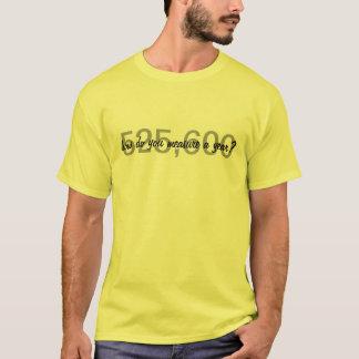T-shirt Loyer-Comment faites vous mesurent une année ?