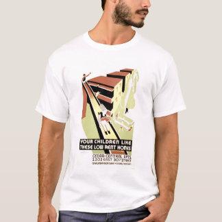 T-shirt Loyer modéré Cleveland à la maison WPA 1940
