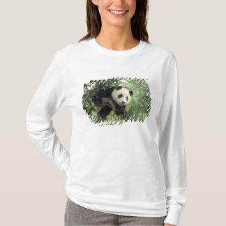 T-shirt L'petit animal de panda géant grimpe à un arbre,
