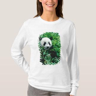T-shirt L'petit animal de panda géant mange le bambou dans