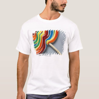 T-shirt Lucette multicolore, plan rapproché