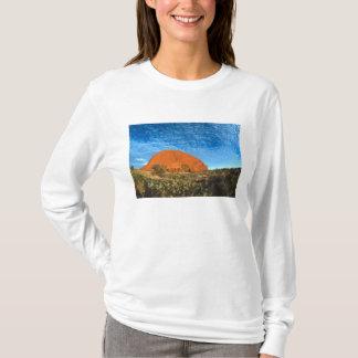 T-shirt Lueur rouge de la roche célèbre d'Ayers dans