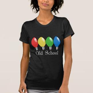 T-shirt Lumières d'arbre de Noël de vieille école