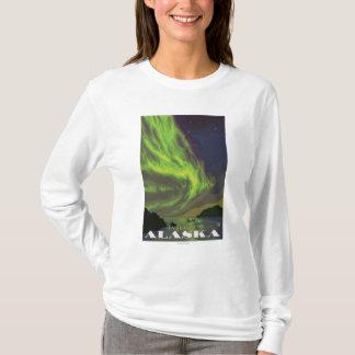 T-shirt Lumières du nord et orques - Fairbanks, Alaska