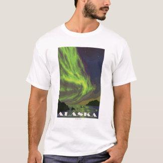 T-shirt Lumières du nord et orques - Juneau, Alaska
