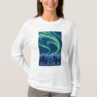 T-shirt Lumières du nord - Fairbanks, Alaska