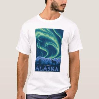 T-shirt Lumières du nord - Juneau, Alaska