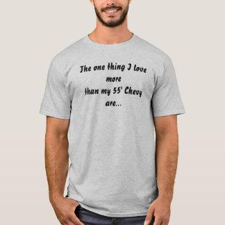 T-shirt L'un amour de la chose I plus que mon 55' Chevy