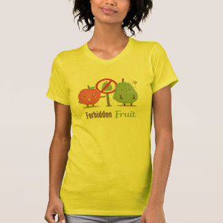 T-shirt Lunatique, le fruit défendu, Apple et durian