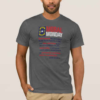 T-shirt Lundi moral, Raleigh, la Caroline du Nord