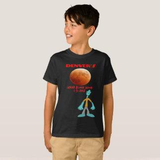 T-shirt Lune 01.31.2018 de sang de l'éclipse lunaire de