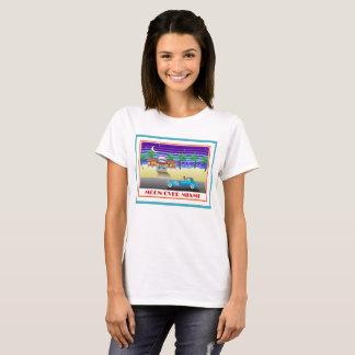 T-shirt Lune au-dessus d'Aqua de Miami