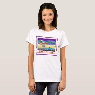T-shirt Lune au-dessus de pourpre de Miami