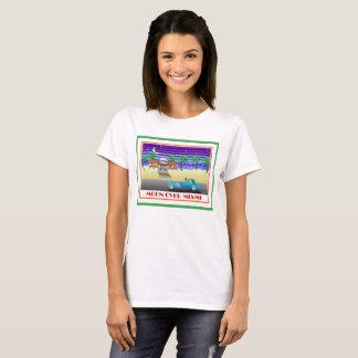 T-shirt Lune au-dessus de vert de Miami