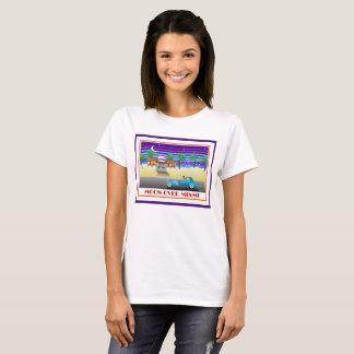 T-shirt Lune au-dessus d'indigo de Miami
