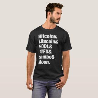 T-shirt Lune de Bitcoin Litecoin HODL BTFD Lambo (foncée)