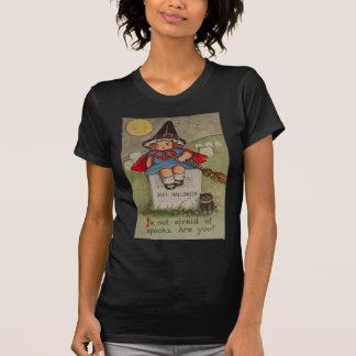 T-shirt Lune de chat noir de pierre tombale de cimetière
