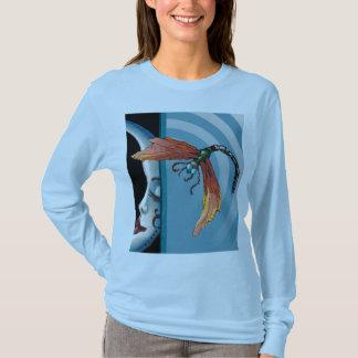T-shirt Lune et libellule