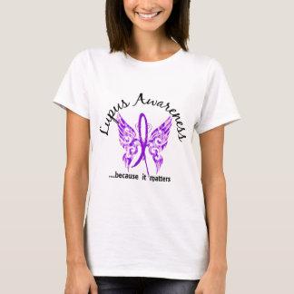 T-shirt Lupus grunge du papillon 6,1 de tatouage