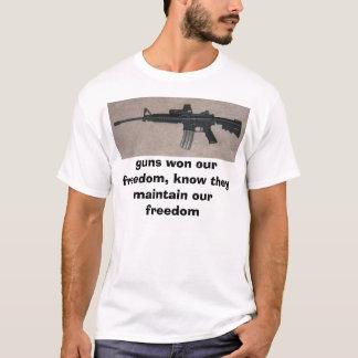 T-shirt m16, armes à feu a gagné notre liberté, sait
