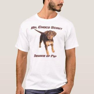 T-shirt M. Choco Scout : Prenez garde du chiot