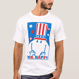 T-shirt M. Happy With Patriotic Hat