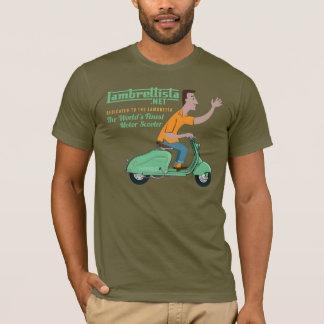 T-shirt M. Lambrettista Rides un Lambretta vert LD