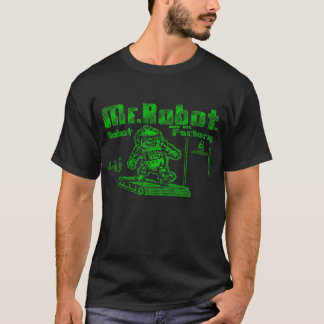 T-shirt M. Robot et son usine robotisée
