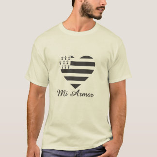 T-shirt Ma bretagne Mi Armor One love