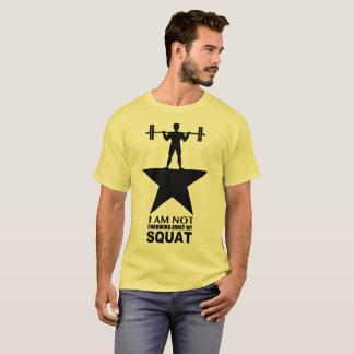 T-shirt Ma copie foncée de pièce en t masculine accroupie