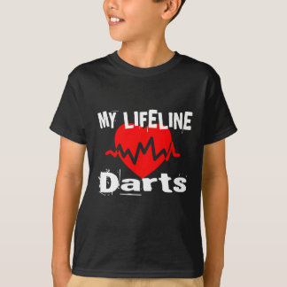 T-shirt Ma ligne de vie darde des conceptions de sports