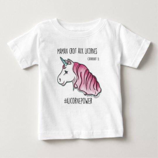 """T-shirt """"ma mère croit aux licornes"""" *"""
