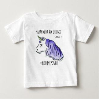 """T-shirt """"ma mère croit aux licornes"""" bleu *"""
